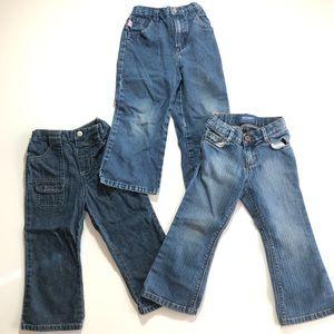 Other - 3T Blue Jean Clothes Bundle Girl Toddler Denim